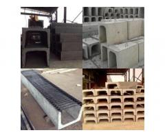 Мраморная крошка, полусферы бетонные, трубы хризотилцементные, стремянки C-1, ЖБИ